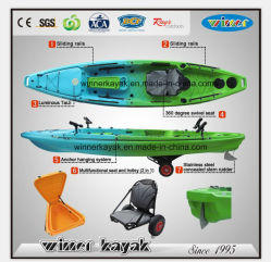 Caça em canoa de pesca única com pedais para promoção