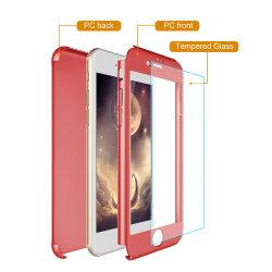 Commerce de gros ultra mince couverture complet du Corps de protection rigide Téléphone Slim couvercle de boîtier de 360 degrés en verre trempé pour iPhone 7/L'iPhone 7plus