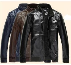 Moins cher personnalisée en usine de haute qualité en imitation de la mode pour hommes PU des blousons de cuir