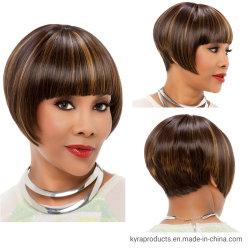 정면 레이스 가발 Glueless Stragiht 가발 흑인 여성 최신 인기 상품 숙녀가 2019의 새로운 도착 여자 가발에 의하여 Bobo 100% 사람의 모발 Wigs 누전한다