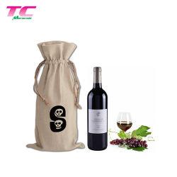 Рекламные Eco вино рампы специальный мешочек пользовательских печатных хлопка вино выполните подарочный пакет