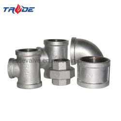Unione/gomito/T/traversa/accessori per tubi galvanizzati capezzolo della ghisa malleabile