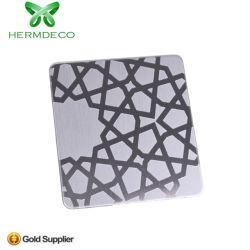 Venda a quente de gravação do espelho de parede decoração da folha de aço inoxidável de Foshan Fornecedor da China