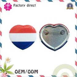 В форме сердечка пользовательского логотипа для украшения одежды подарок для продвижения