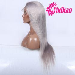 灰色カラー人間のRemyの毛のバージンの毛の割引価格の女性のための完全なレースのかつら