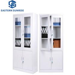 Mobiliário de escritório de aço estante de livros 2 Gire a porta de metal de Armazenamento de arquivo
