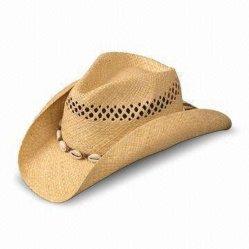 Chapéus de cowboy Big Borda salva-vidas barato Chapéu de Palha Americano Natural