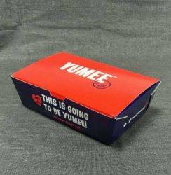 使い捨て可能な環境的に2つのカラークラフト紙のお弁当箱ボールの習慣のDegradableクラフト紙ボックスサラダテークアウトのお弁当箱の厚くされたカスタムロゴ