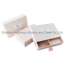 Luxus Quadratische Starre Pappe Papier Rose Gold Folie Rosa Versand Box Bekleidungskisten C kleine dünne Slider Box Schubladenkasten Geschenkverpackung Boxen mit Griffen