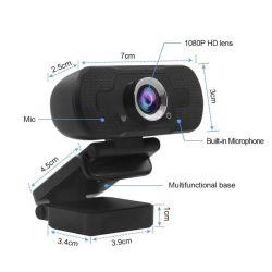 RoHS Ce 1080P Plug and Play USB-Cam веб-камера Full HD камера для ПК видео-вызову в прямом эфире для ПК Автофокусировка Max Конференции