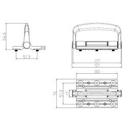 Poignée en aluminium pour la poignée de la charnière en alliage 65 Bi-Folding système porte et fenêtre