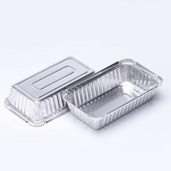 Retângulo pesado preço de fábrica de alumínio bandejas de recipientes de comida
