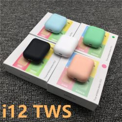 Radio I12 Tws I7 I9 I11 del nuovo di disegno del campione libero mini del dente di Earbuds trasduttore auricolare blu senza fili della cuffia