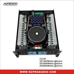 Système audio professionnel d'extérieur amplificateur de puissance Ca80 3 000 W Amplificateur