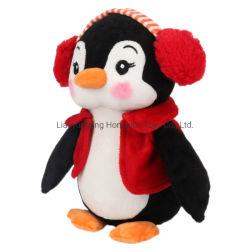 2021高品質のイヤホーンが付いているカスタムかわいいKawaii柔らかい詰められたXmasのクリスマスのペンギンのおもちゃのプラシ天のペンギンの人形