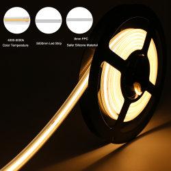 4000K 8mm 6W 24V IP67 240LEDs/M LEDの滑走路端燈の屋内および屋外の装飾的な照明のための防水穂軸LEDライトストリップ