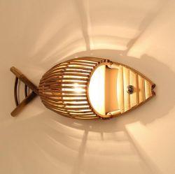 Бамбук тканого люстра нового китайского стиля чайной Юго-Восточной Азии в японском стиле света творческие рыбы лестница бамбук Lightshade