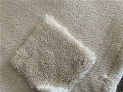 Warp Tricot Faux Suede Alimentos cordeiros lã casaco de inverno/Islândia Cashmere Tecido de tricotar