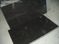 Alta Qualidade Mongólia polido em granito preto parede de azulejos do piso Cu de tamanho para Piscina Piscina Lancis de Pavimentação