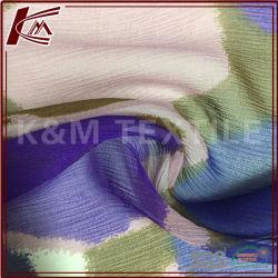 100% seda Georgette ondulada impreso Digital de la GGT elástica de tejido de seda