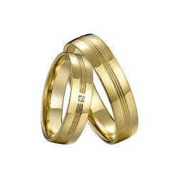 Anelli di cristallo della CZ del diamante operato degli anelli di fidanzamento