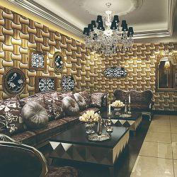Diseño moderno clásico 53cm pared de la decoración del hogar Rollo de papel tapiz en 3D.