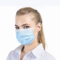 Mascherina medica a gettare non tessuta ben nota dentale facciale all'ingrosso della maschera di protezione di Sugical del ciclo dell'orecchio 3ply della polvere di TUV En14683 Typeii del Ce del fornitore del modello depositato della Cina