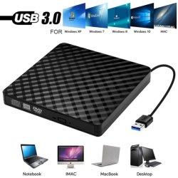 مسجل أقراص USB3.0 DVD-RW/CD-RW خارجي مسجل أقراص مضغوطة ضوئية DVD ROM SATA
