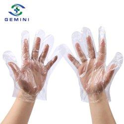 Schützende PET Wegwerfhandschuhe mit transparentem Material (GPG-PE001)