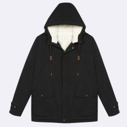 Men's black recyclés veste chaude avec Sherpa à l'intérieur