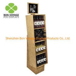 Madera Custom-Made Stand Vino Vino botellas de vidrio vitrina