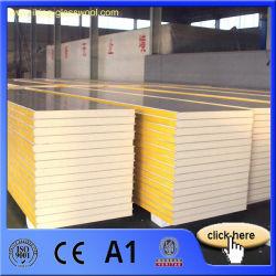 40 kg/m3 de densidad aislamiento térmico de poliuretano (PU) / panel sándwich de PIR con CE, A1 y FM frío Certificado de cámara frigorífica PU/violeta/Panel aislado de PIR