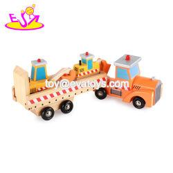 De nouveaux enfants les plus chauds de la construction voiture jouet en bois du véhicule transporteur pour les enfants W04A357