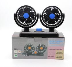2 CirculatieVentilator van de KoelLucht van de Auto van de snelheid de Dubbele Hoofd Auto