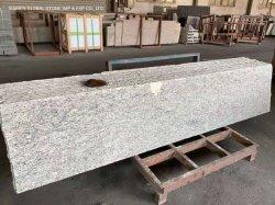 Buen precio la mitad de las losas de piedra natural Brasil Giallo Sf auténtico granito blanco para baldosas Internos Externos Revestimiento de pared