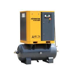 Faible bruit de qualité Premium compresseur rotatif 5,5 kw 7.5 HP avec compresseur à air du réservoir de la vis du compresseur