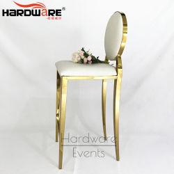 Design moderno em aço inoxidável de Metal Ouro PU Tabela Cocktail Bar do Assento