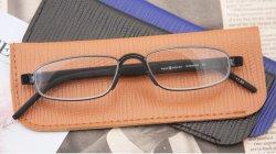ガラスレンズ材料およびステンレス製フレームの物質的な細字用レンズ