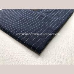 Venta caliente Tejido de lino puro para camisashilado teñido de patrón de bandas de la tabla Runner / Cortina