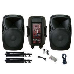 오디오 결합 음량 음색 조절기와의 시스템에 의하여 강화되는 DJ 스피커 쌍