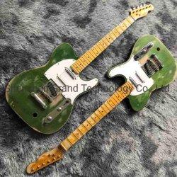 Custom Status Quo Francis Rossi legendario guitarra eléctrica en color verde