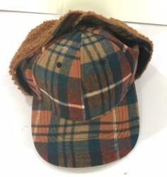 La lana otoño e invierno de nuevo los niños y niñas protección auditiva ovillo de lana Gorro de punto caliente