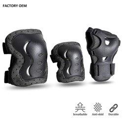 Hochwertiger Roller-komprimierende Knie-Krümmer-Handgelenk-Auflagen des Kind-Erwachsen-schützender Gang-gesetzter Rollen-Eislauf-Skateboard-BMX