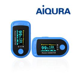 CE doigt de la saturation en oxygène du sang FDA Surveiller Aiqura oxymètre de pouls de doigt AD805 A2