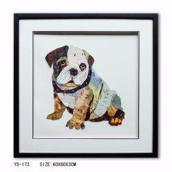 Handgemachter Farbanstrich-Wand-Farbanstrich-netter Hundefarbanstrich der Kunst-3D für Dekorationen