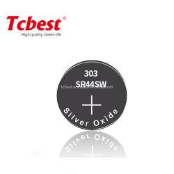 Sr41 1.55V 1.45V silberne Oxid-Tasten-Zelle für Genf-Uhr