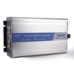 2000W 12/24/48V a 110 V/220 V onda senoidal pura inversor, Carro Solar Power off Inversor de Grade