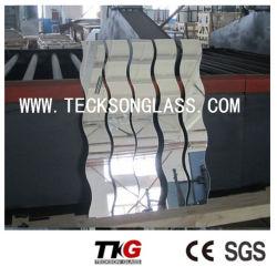 Forma de S irregulares espelho decorativo para vidro de construção