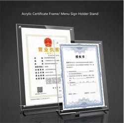 Nome do Produto Poster Tampo de acrílico assinar o Suporte do suporte da estrutura de certificado