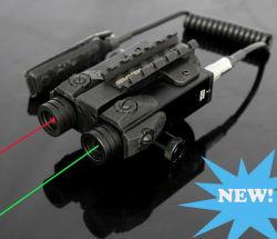 군사 스타일의 전술 사냥 이중 녹색 레이저 및 적색 레이저 라이플 건 라이트 시용 조준기(ES-FX-4GR)